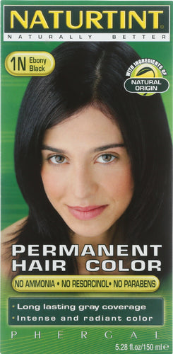 NATURTINT: Permanent Hair Color 1N Ebony Black, 5.28 oz