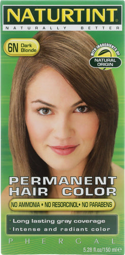 NATURTINT: Permanent Hair Color 6N Dark Blonde, 5.28 oz