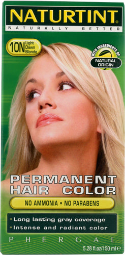 NATURTINT: Permanent Hair Color 10N Light Dawn Blonde, 5.28 oz