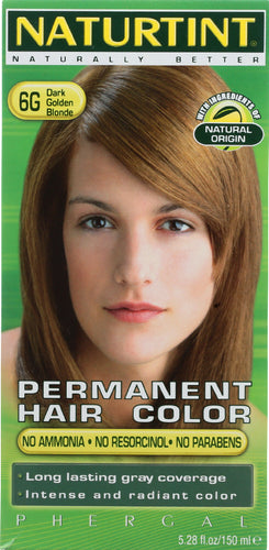 NATURTINT: Permanent Hair Color 6G Dark Golden Blonde, 5.28 oz