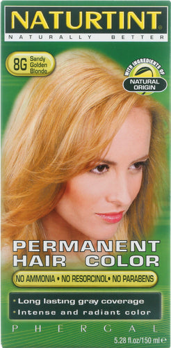 NATURTINT: Permanent Hair Color 8G Sandy Golden Blonde, 5.28 oz