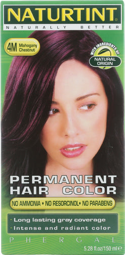 NATURTINT: Permanent Hair Colorant 4M Mahogany Chestnut, 5.28 oz