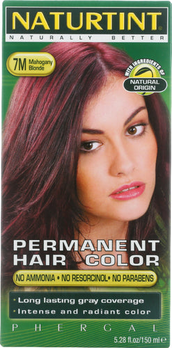 NATURTINT: Permanent Hair Color 7M Mahogany Blonde, 5.28 oz