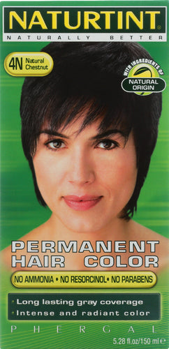 NATURTINT: Permanent Hair Color 4N Natural Chestnut, 5.28 oz