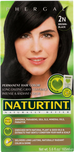NATURTINT: Permanent Hair Color 2N Brown-Black, 5.28 oz