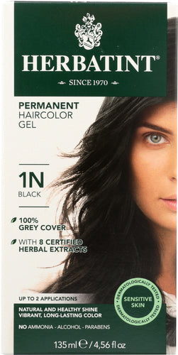 HERBATINT: Permanent Herbal Haircolor Gel 1n-Black, 4 Oz