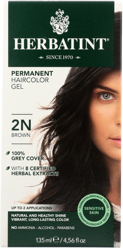 HERBATINT: Permanent Herbal Haircolor Gel 2N Brown, 4 oz