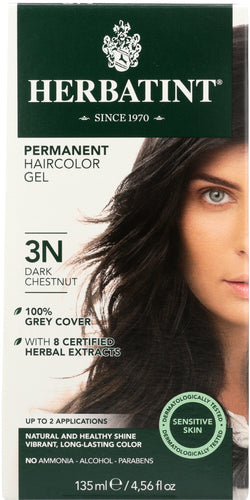 HERBATINT: Permanent Herbal Haircolor Gel 3N Dark Chestnut,  4.56 Oz