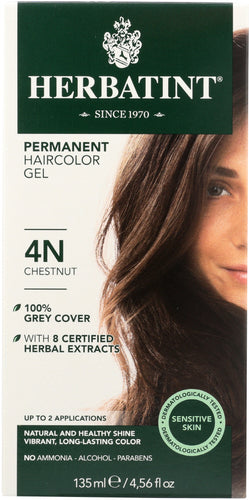 HERBATINT: Permanent Herbal Haircolor Gel 4N Chestnut, 4.5 oz