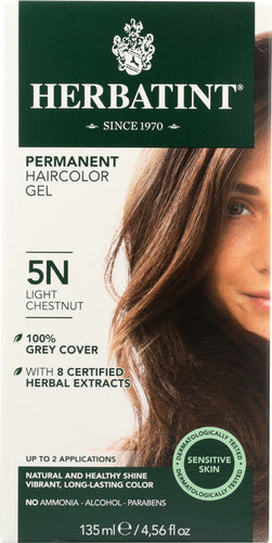 HERBATINT: Permanent Herbal Haircolor Gel 5N Light Chestnut, 4.56 Oz