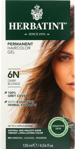 HERBATINT: Permanent Herbal Haircolor Gel 6N-Dark Blonde, 4.56 Oz