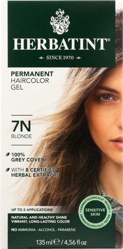 HERBATINT: Permanent Herbal Haircolor Gel 7N Blonde, 4 Oz