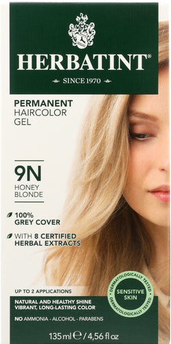 HERBATINT: Permanent Herbal Haircolor Gel 9N Honey Blonde, 4.6 Oz