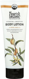 NOURISH: Organic Body Lotion Almond Vanilla, 8 oz
