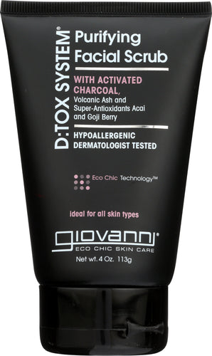 GIOVANNI COSMETICS: D:tox System Purifying Facial Scrub Step 2, 4 oz