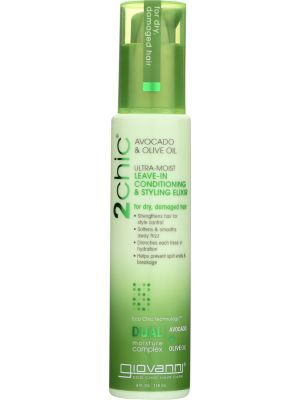 GIOVANNI COSMETICS: 2chic Ultra-Moist Leave-In Conditioning & Styling Elixir Avocado & Olive Oil, 4 oz
