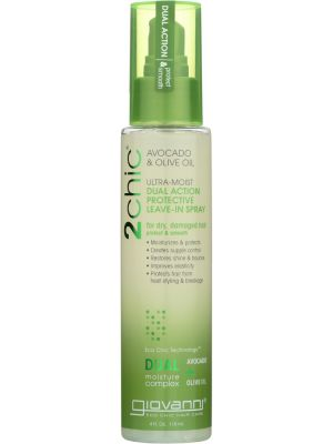 GIOVANNI COSMETICS: 2chic Ultra-Moist Dual Action Protective Leave-In Spray Avocado & Olive Oil, 4 oz