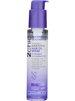 GIOVANNI: Cosmetics 2Chic Repairing Super Potion Hair Oil Serum Blackberry & Coconut Oil, 2.75 Oz