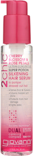 GIOVANNI COSMETICS: 2Chic Ultra-Luxurious Super Potion Cherry Blossom & Rose Petals, 2.75 oz