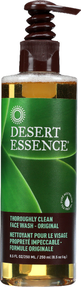 DESERT ESSENCE: Thoroughly Clean Face Wash Original, 8.5 oz
