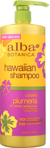 ALBA BOTANICA: Shampoo Colorific Plumeria, 32 oz - One Body Beauty