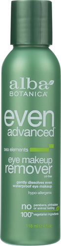 ALBA BOTANICA: Remover Makeup Eye Advanced, 4 oz - One Body Beauty