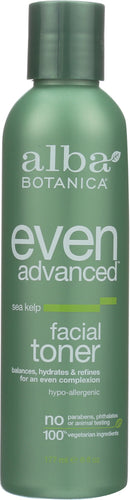 ALBA BOTANICA: Natural Even Advanced Facial Toner Sea Kelp, 6 oz - One Body Beauty