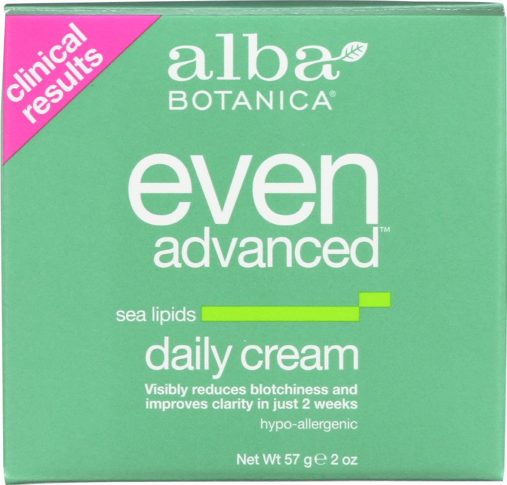 ALBA BOTANICA: Natural Even Advanced Daily Cream Sea Lipids, 2 oz - One Body Beauty