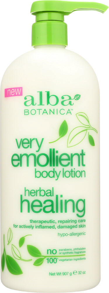 ALBA BOTANICA: Lotion Body Herbal Healing, 32 oz - One Body Beauty
