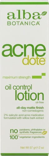 ALBA BOTANICA:  Acnedote Oil Control Lotion Oil-Free, 2 oz - One Body Beauty