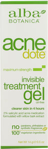 ALBA BOTANICA: Acne Dote Invisible Treatment Gel Oil-Free, 0.5 oz - One Body Beauty