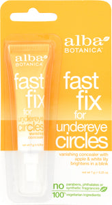 ALBA BOTANICA: Fast Fix for Under eye Circles, 0.25 oz - One Body Beauty