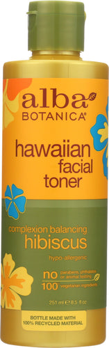 ALBA BOTANICA: Hawaiian Facial Toner Hibiscus, 8.5 oz - One Body Beauty