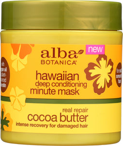 ALBA BOTANICA: Mask Conditioning Cocoa Butter, 5.5 oz - One Body Beauty