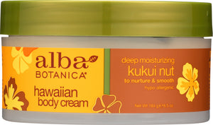 ALBA BOTANICA: Hawaiian Body Cream Kukui Nut, 6.5 oz - One Body Beauty