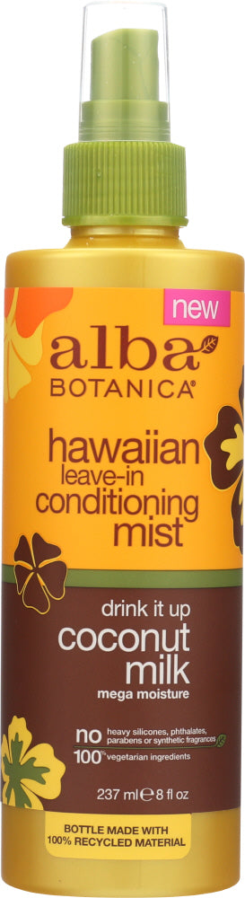 ALBA BOTANICA: Conditioning Mist Leave-In Coconut Milk, 8 oz - One Body Beauty