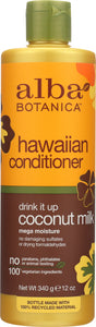 ALBA BOTANICA: Natural Hawaiian Conditioner Drink It up Coconut Milk, 12 oz - One Body Beauty
