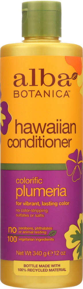 ALBA BOTANICA: Hawaiian Conditioner Colorific Plumeria, 12 oz - One Body Beauty