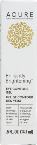 ACURE: Brilliantly Brightening Eye Contour Gel, 0.5 fl oz - One Body Beauty