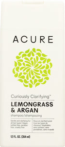 ACURE: Curiously Clarifying Shampoo Lemongrass & Argan, 12 fl oz - One Body Beauty