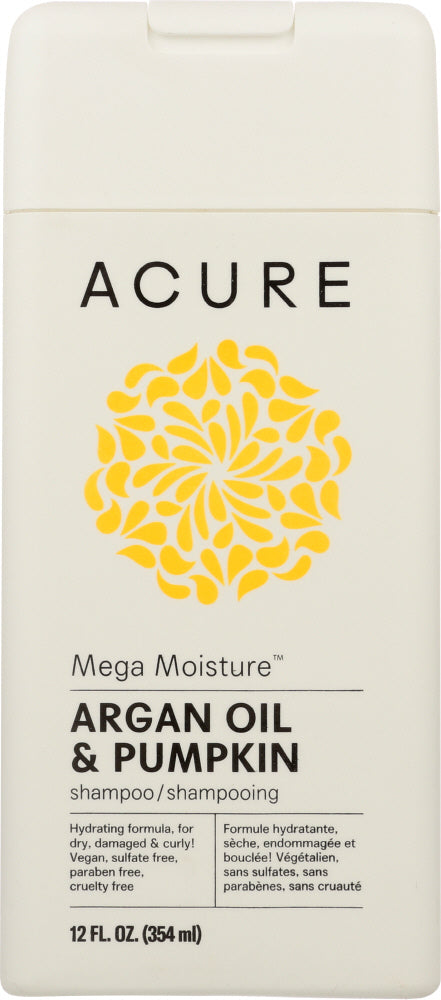 ACURE: Mega Moisture Shampoo Argan Oil & Pumpkin, 12 fl oz - One Body Beauty