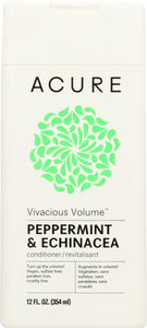 ACURE: Vivacious Volume Conditioner Peppermint & Echinacea, 12 fl oz - One Body Beauty
