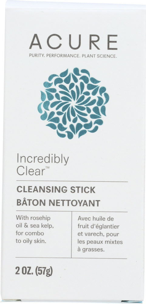 ACURE: Incredibly Clear Cleansing Stick, 2 oz - One Body Beauty