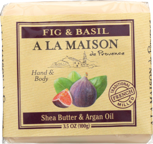 A LA MAISON DE PROVENCE: Mini Soap Bar Fig & Basil, 3.5 oz - One Body Beauty