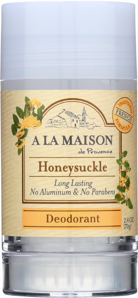 A LA MAISON DE PROVENCE: Deodorant Honeysuckle, 2.4 oz - One Body Beauty