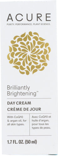ACURE: Brilliantly Brightening Day Cream, 1.7 oz - One Body Beauty
