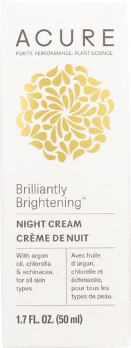 ACURE: Brilliantly Brightening Night Cream, 1.7 oz - One Body Beauty