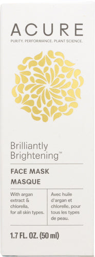 ACURE: Brilliantly Brightening Face Mask, 1.7 fl oz - One Body Beauty