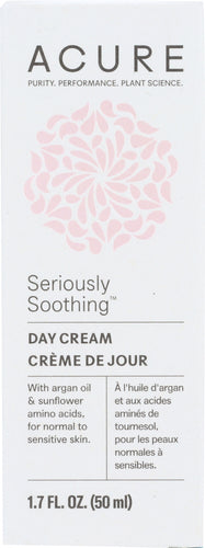 ACURE: Seriously Soothing Facial Day Cream, 1.7 oz - One Body Beauty