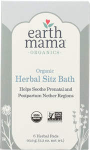 EARTH MAMA ANGEL BABY: Pad Herbal Bath Postpartum 6 Pack, 3.3 oz